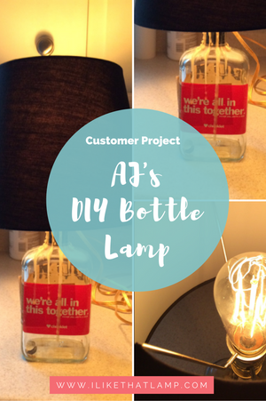 Customer Project: AJ's DIY Bourbon Bottle Lamp