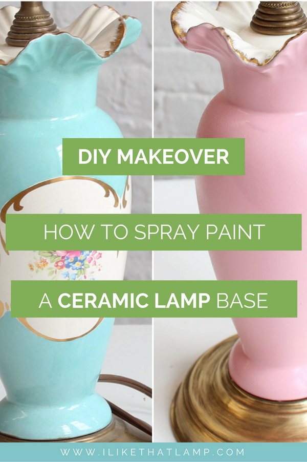 Easy Lamp Diy Makeover Transforming A Ceramic Lamp With Spray Paint Makely