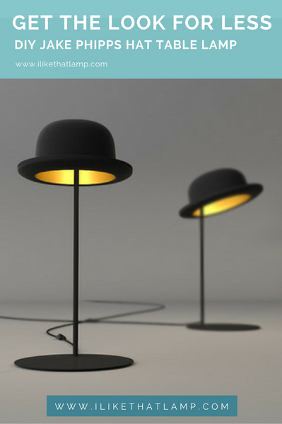 Get the Look for Less: DIY Bowler Hat Table Lamp