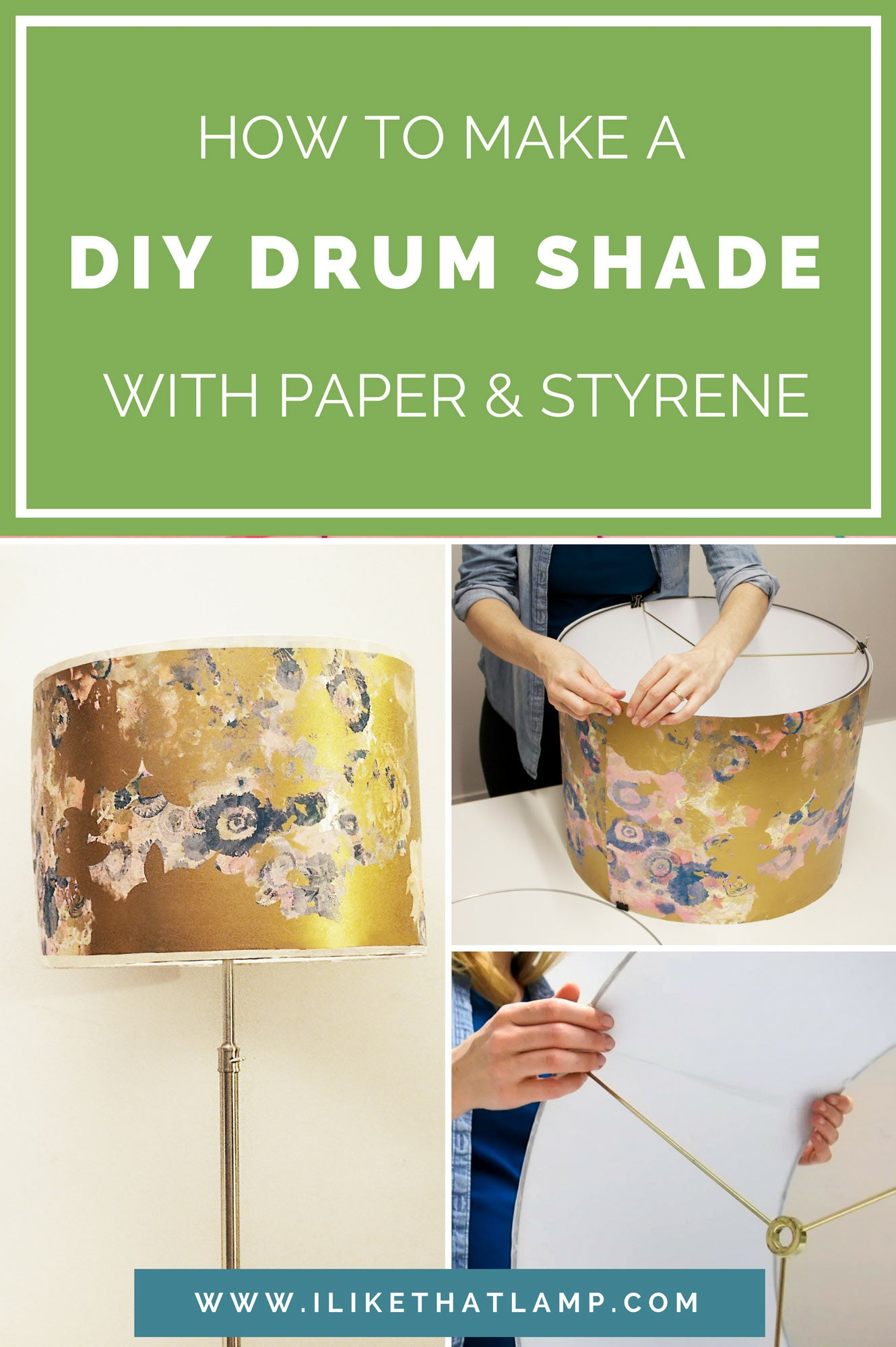 How To Make A Durable Diy Drum Shade With Paper And Adhesive Styrene Makely