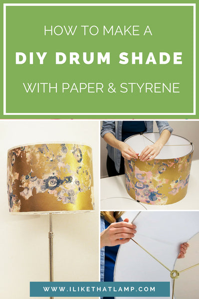 How to Make a Durable DIY Drum Shade with Paper and Adhesive Styrene