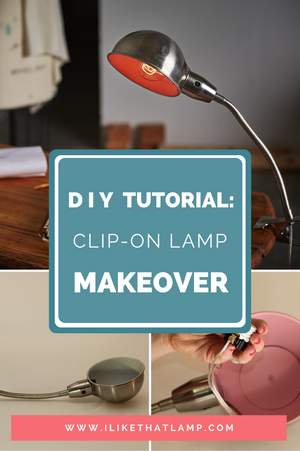 How to Give a Clip-On Desk Lamp a DIY Makeover