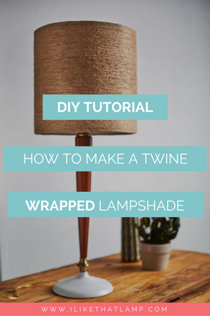 How to Make a Fall-Inspired Jute Twine Wrapped DIY Lampshade - Find the full tutorial at www.ilikethatlamp.com
