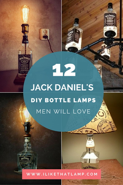 DIY Man Cave Lighting Ideas: Jack Daniel's Whiskey Bottle Lamps