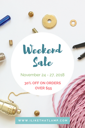 Join us for our Black Friday - Cyber Monday Full Weekend Sale at www.ilikethatlamp.com