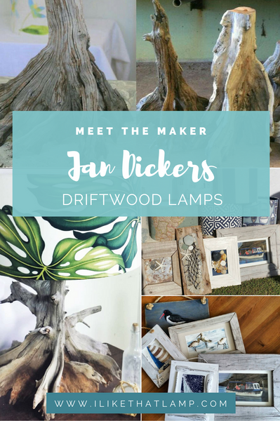 Meet the Maker: Jan Dickers' Driftwood Lamps' Designer
