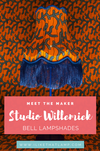 Meet the Maker: Willemiek Upcycles Thrift Store Wire Frames in Beautiful Modern Bell Lampshades