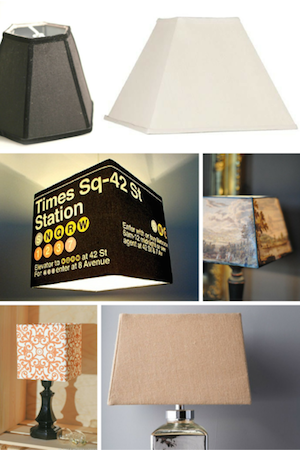 Inspiration for Making Square, Panel + Geometric Lampshades