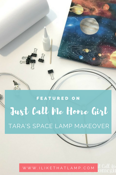 Featured on Just Call Me Home Girl: Tara's Space Lamp DIY Makeover