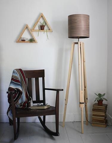 DIY Wood Veneer Lampshade