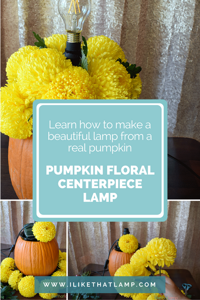 How to Upcycle an IKEA Lamp into a Pumpkin Floral Centerpiece Lamp