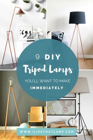 9 DIY Tripod Lamps You'll Want to Make Immediately - Read about DIY Lamp kits and projects at https://ilikethatlamp.com