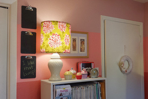 Stashbusting with DIY Lampshades