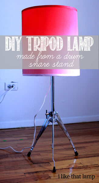 Video Tutorial: How to Make a Tripod Table Lamp