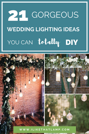 21 Gorgeous Ways to Use Hanging Lighting at Your Wedding. And They're All SUPER Easy to DIY! Visit www.ilikethatlamp.com for tips and tutorials on how to DIY your wedding lighting for a fraction of the cost of wedding lighting vendors ;)