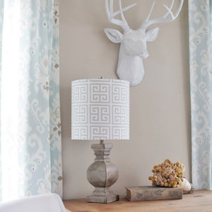 Amy's Neutral Print DIY Lampshade