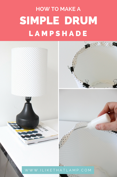 How to Make a Polka Dot Lampshade