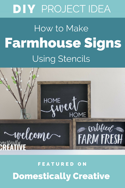 How to Make Farmhouse Style Chalkboard Signs Using Stencils