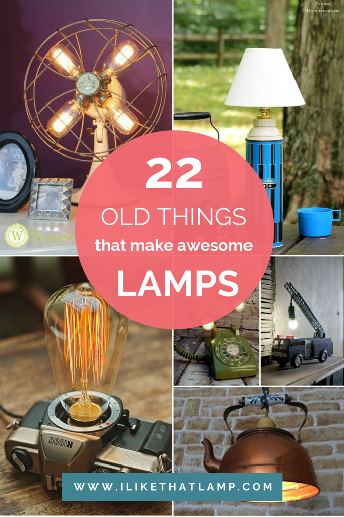 22 Old Things That Make Awesome Diy Lamps Makely