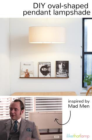 A Mad Men Inspired Oval Lampshade