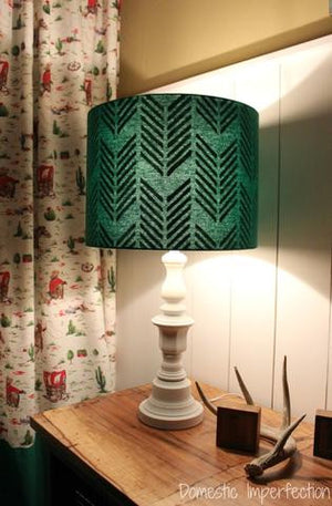 DIY Lampshade with an Interior Pattern