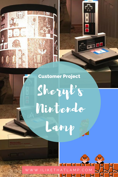 Customer Project: Sheryl's DIY Nintendo Lamp