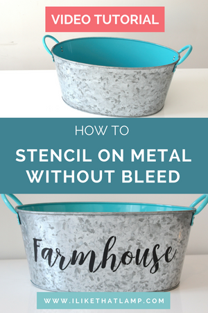 How to Stencil on Metal Without Bleed