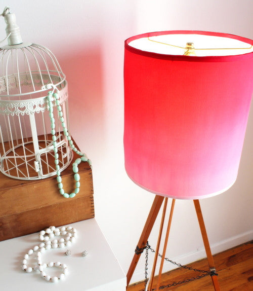 How to Upcycle a Silk T-Shirt into an Ombre Lampshade