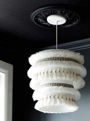 I Like That Lamp: Moroccan Wedding Blanket Inspired Lampshade