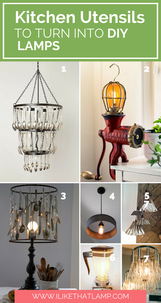 10+ Kitchen Utensils to Upcycle into a DIY Lamp - www.ilikethatlamp.com