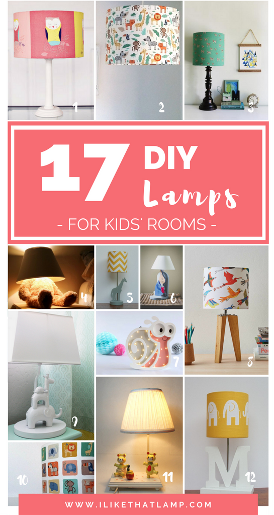 17 DIY Lamps To Brighten Up A Kidu0027s Room   Animal Lights   I Like That
