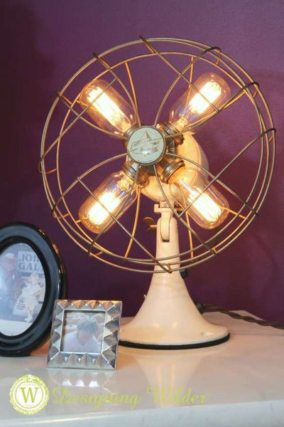 Vintage fans 22 old things that make awesome diy lamps