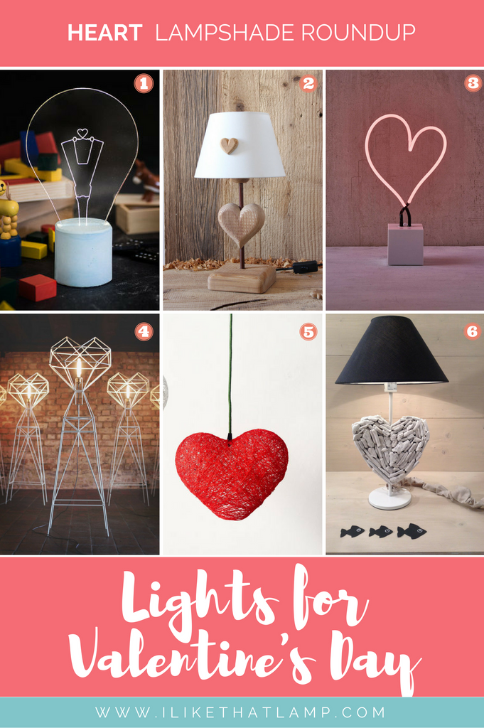 6 Romantic Lamps to Set the Mood for Valentine's Day - Shop DIY Lamp Kits at www.ilikethatlamp.com