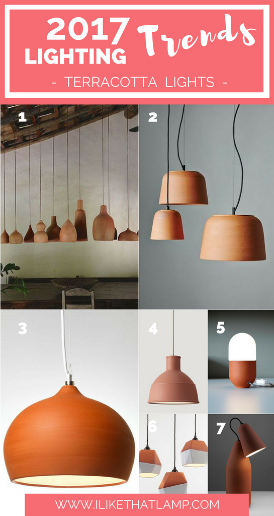 Lighting Trends for DIY Crafters in 2017 - Terracotta Lamps - www.ilikethatlamp.com