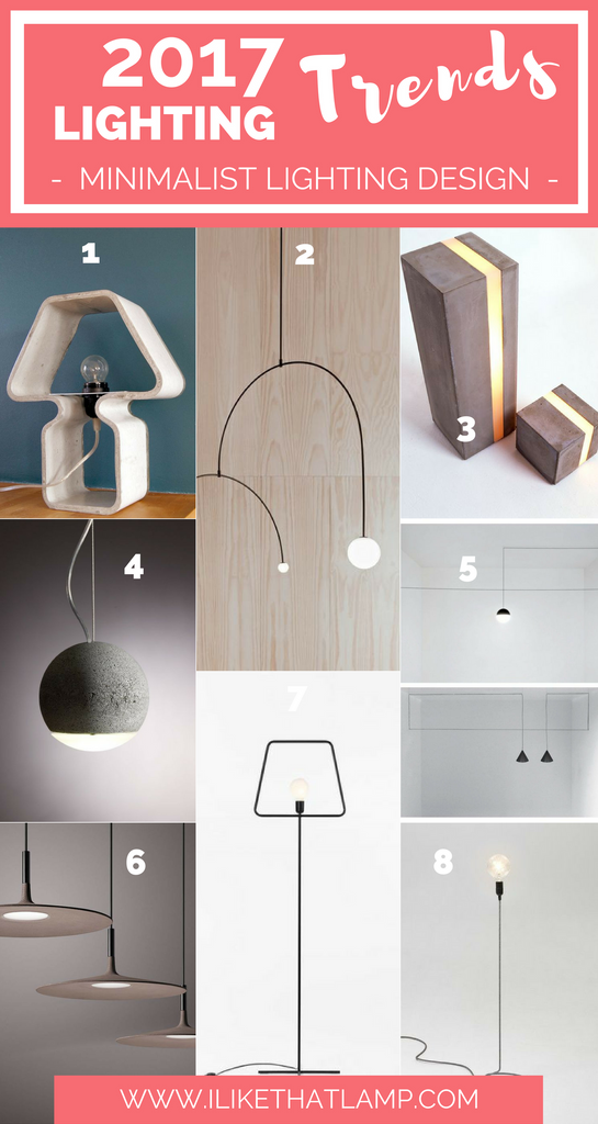Lighting Trends for DIY Crafters in 2017 Minimalist Lights - www.ilikethatlamp.com