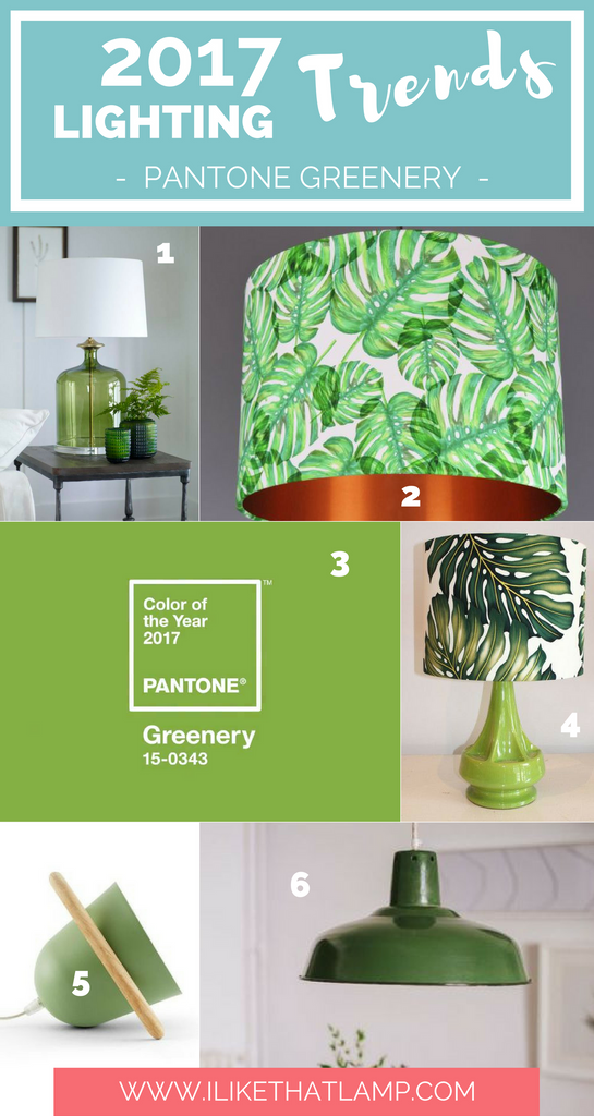 Lighting Trends for DIY Crafters in 2017 - Pantone's Color of the Year 2017 - www.ilikethatlamp.com