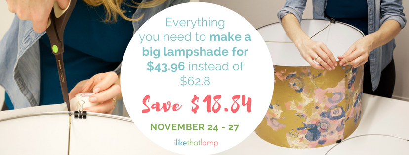 DIY Lamp Supplies BLack Friday, Cyber Monday Weekend Sale, November 24th - 27th, 2017