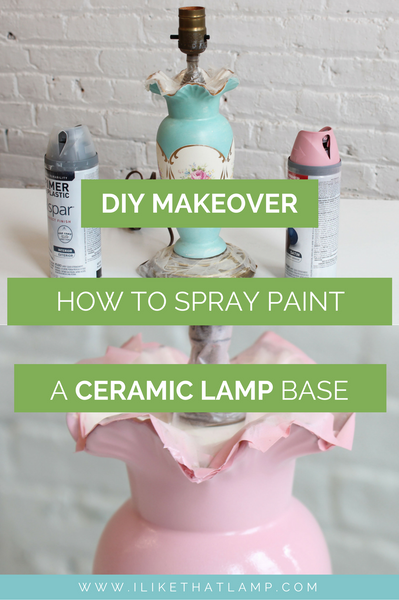 Easy Old Lamp DIY Makeover: Transforming a Ceramic Lamp Base with Spray Paint - See tutorial at www.ilikethatlamp.com