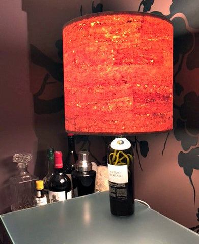 Diy lampshades fabric alternatives i like that lamp for Wine cork lampshade