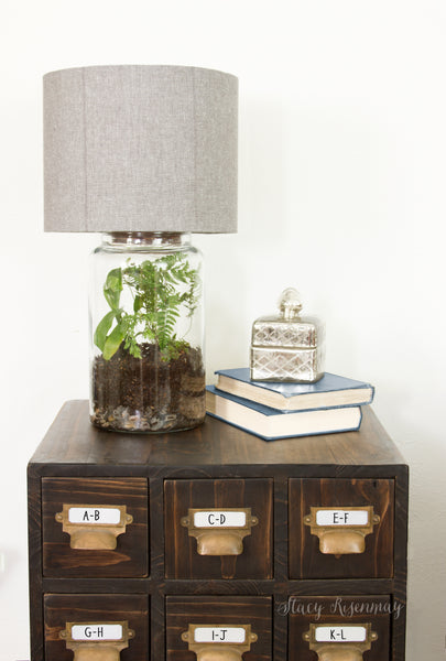 Featured On Not Just A Housewife Stacy's Easy DIY Terrarium Lamp - See more at I Like That Lamp