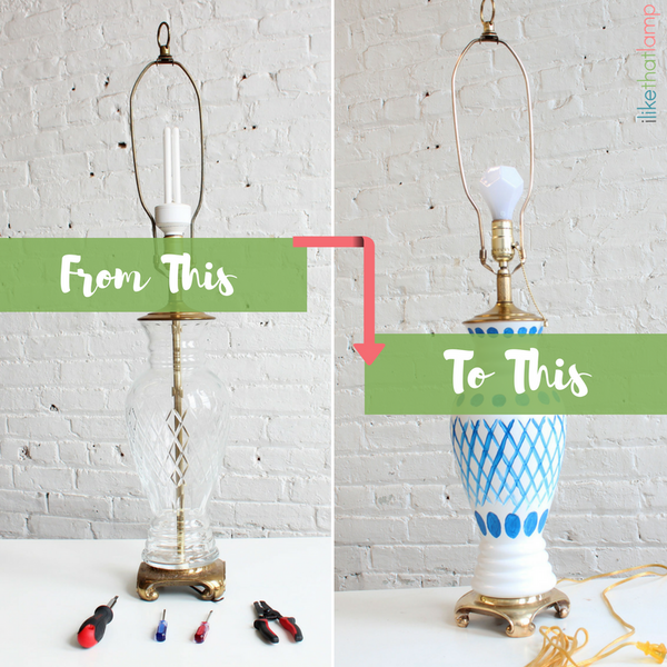From Old and Boring to New and Pretty Glass Vase Lamp Makeover Tutorial-2