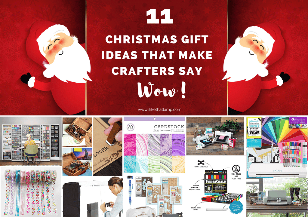Here are 11 awesome Christmas gift ideas for crafters, artists, makers or DIYers!