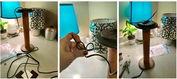 How to wire an old wool spool and give it a new life as a lamp i how to wire an old wool spool and give it a new life as a lamp greentooth Choice Image