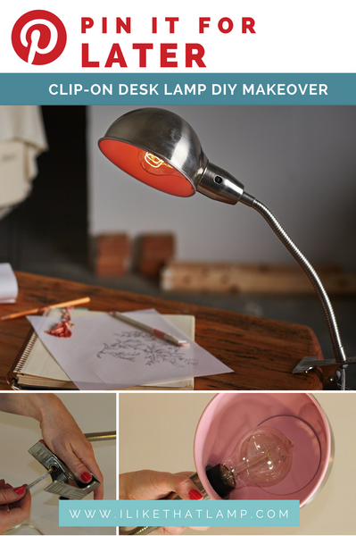 How to give a clip-on desk lamp a DIY makeover - Full Tutorial at www.ilikethatlamp.com