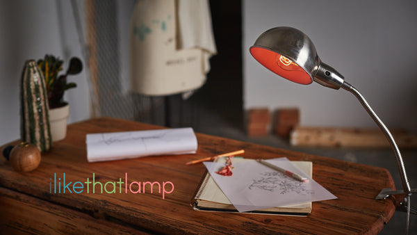 Looks Pretty Cool For An Upcycled $5 Thrift Store Clip On Lamp, Doesnu0027t It?