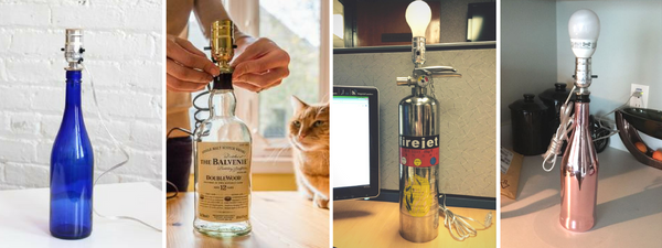 How to Make DIY Bottle Lamps with I Like That Lamp Wiring Kit