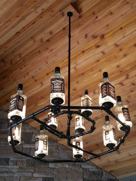 12 DIY Jack Daniel's Whiskey Bottle Lamps Men Will Love - Read more at www.ilikethatlamp.com