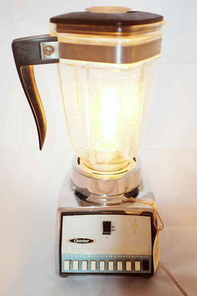Mid-century Blender Upcycled into a Bedside Lamp by RitzyRepurposed