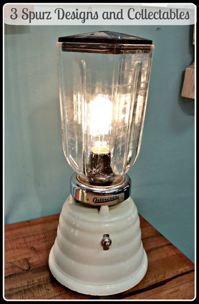 Vintage beehive Osterizer blender turned into a table lamp by 3SpurzDesignsAndCollectables