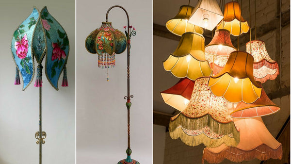 Meet the Maker Artist Interview Willemiek Upcycles Thrift Shop Bell Lampshade Frames